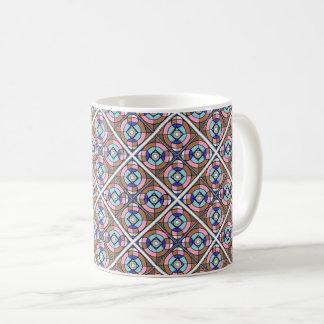 Coordinating Geometric Chocolate Pattern Mug