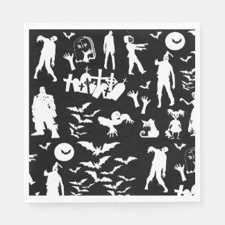 Coordinating Zombie Collage Walking Dead Halloween Paper Napkin