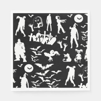 Coordinating Zombie Collage Walking Dead Halloween Paper Napkins