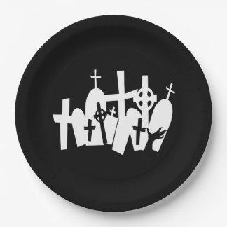 Coordinating Zombie Graveyard Halloween Paper Plate