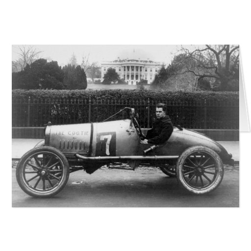 Cootie Race Car Vintage White House Photo Greeting Card