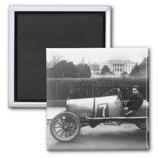 Cootie Race Car Vintage White House Photo Refrigerator Magnet