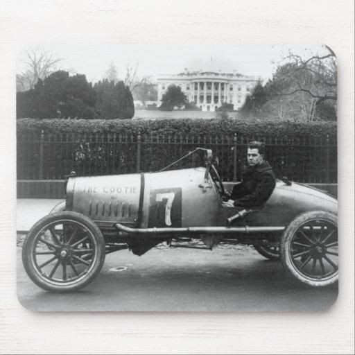 Cootie Race Car Vintage White House Photo Mouse Pad