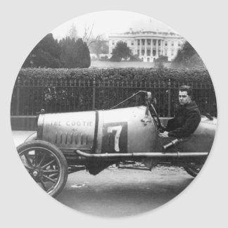 Cootie Race Car Vintage White House Photo Stickers