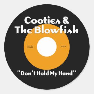 Cooties & The Blowfish Orange Classic Round Sticker