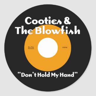Cooties & The Blowfish Orange Round Sticker