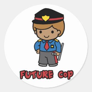 Cop Classic Round Sticker