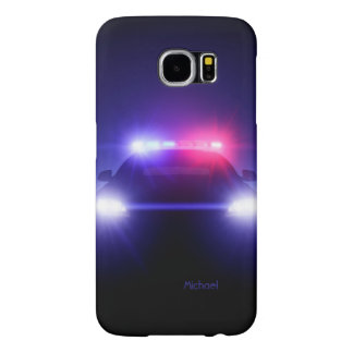 Cop Police Car Full Lights Blinking Samsung Galaxy S6 Cases