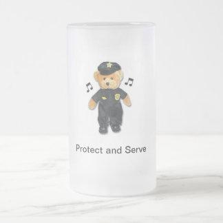 Cop Teddy Bear Frosty Mug