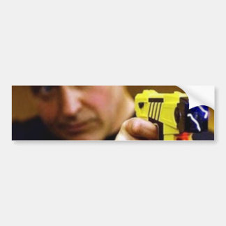 Cop With A Taser Gun Bumper Sticker