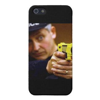 Cop With A Taser Gun iPhone 5/5S Case