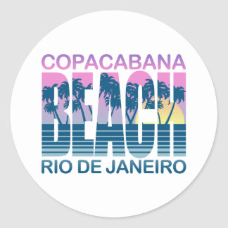 Copacabana Beach Classic Round Sticker