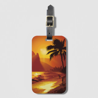 Copacabana Beach Luggage Tag