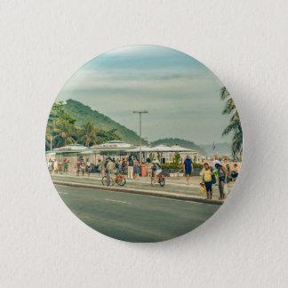 Copacabana Sidewalk Rio de Janeiro Brazil 2 Inch Round Button