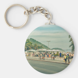 Copacabana Sidewalk Rio de Janeiro Brazil Keychain