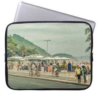 Copacabana Sidewalk Rio de Janeiro Brazil Laptop Sleeve