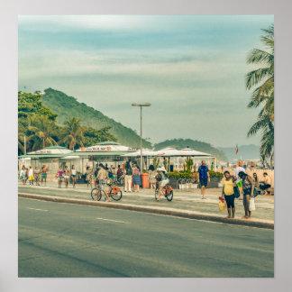 Copacabana Sidewalk Rio de Janeiro Brazil Poster