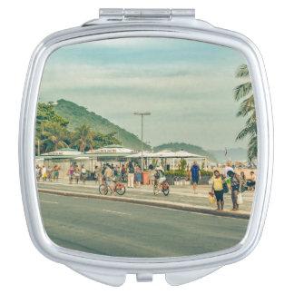 Copacabana Sidewalk Rio de Janeiro Brazil Travel Mirror