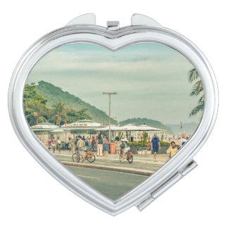 Copacabana Sidewalk Rio de Janeiro Brazil Vanity Mirror
