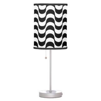 copacabana zig-zag waves pattern table lamp