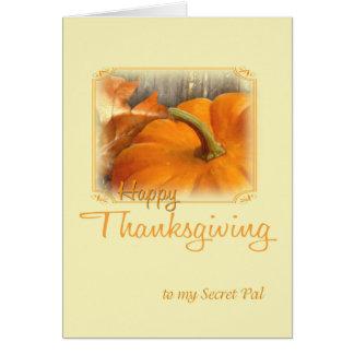Copain de secret de bon thanksgiving carte de vœux