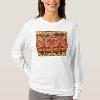 Cope with peacock motif and kufic inscription T-Shirt