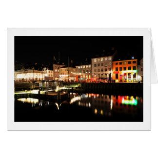 Copenhagen at night card