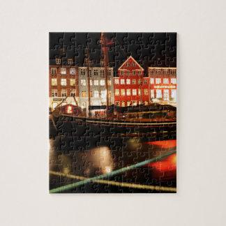 Copenhagen at night jigsaw puzzle