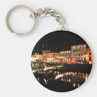 Copenhagen at night keychain