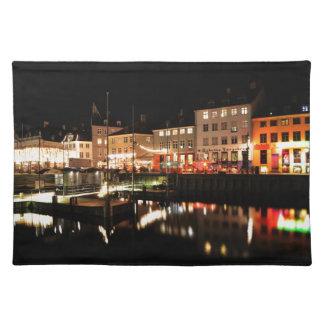 Copenhagen at night placemat