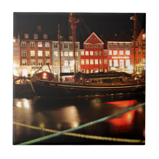 Copenhagen at night tile