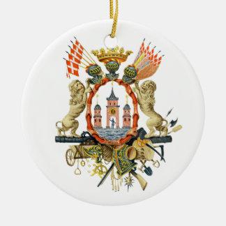 Copenhagen Coat of Arms Ceramic Ornament