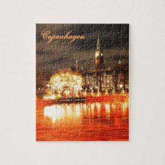 Copenhagen, Denmark at Christmas Jigsaw Puzzle