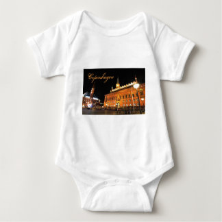 Copenhagen, Denmark at night Baby Bodysuit