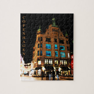 Copenhagen, Denmark at night Jigsaw Puzzle