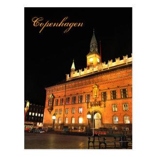 Copenhagen, Denmark at night Postcard