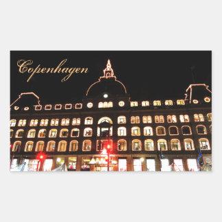 Copenhagen, Denmark at night Sticker