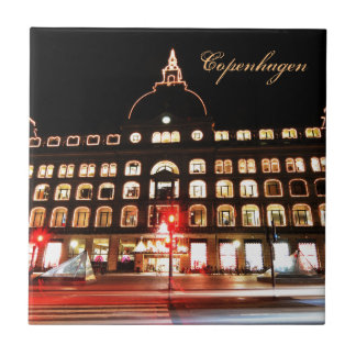Copenhagen, Denmark at night Tile