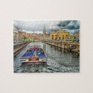 Copenhagen Denmark Canal Jigsaw Puzzle
