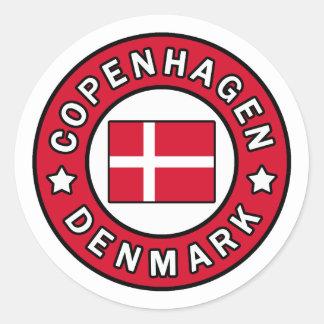 Copenhagen Denmark Classic Round Sticker