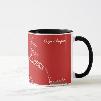 Copenhagen Denmark Elegant Classy Sketch Nostalgic Mug