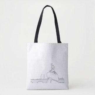 Copenhagen Denmark Elegant Classy Sketch Nostalgic Tote Bag
