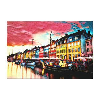 Copenhagen Denmark Harbour Canvas Print
