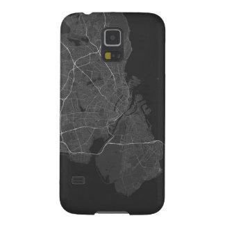 Copenhagen, Denmark Map. (White on black) Case For Galaxy S5