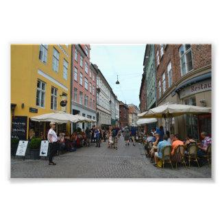 Copenhagen, Denmark, Sidewalk Cafes Art Photo