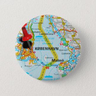 Copenhagen, København in Denmark 2 Inch Round Button