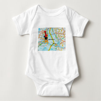 Copenhagen, København in Denmark Baby Bodysuit