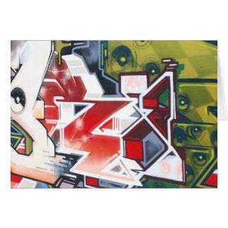 Copenhagen Street Graffiti Art Card