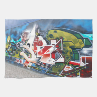 Copenhagen Street Graffiti Art Kitchen Towel