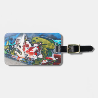 Copenhagen Street Graffiti Art Luggage Tag